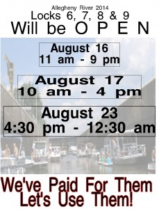 2014 Allegheny River Lock 6, 7, 8 & 9 Open 3 Days