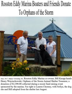 Rosston Marina sponsors charity event to benefit  Orphans of the Storm